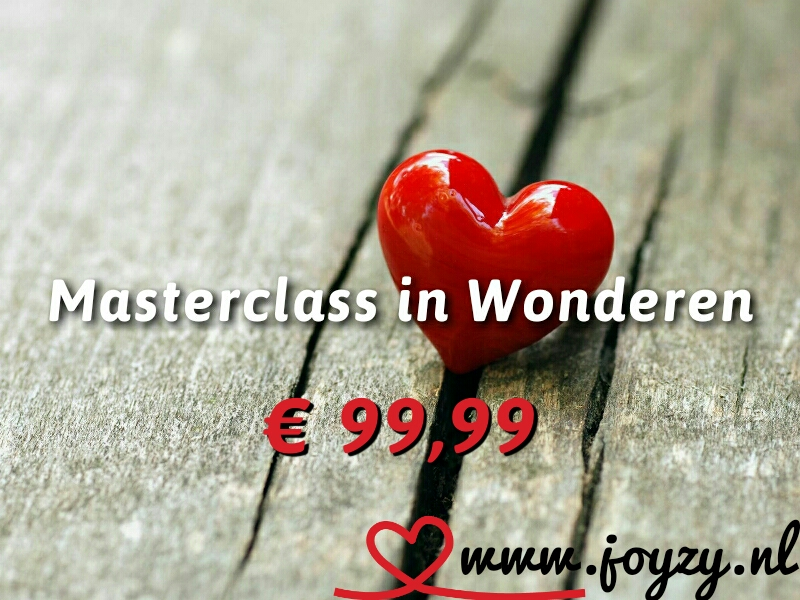 Deze online masterclass in wonderen is nog in de maak. Voor meer in formatie: info@joyzy.nl.